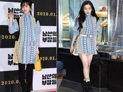 Irene Red Velvet dan Han Ji Min Pakai Dress Kembaran, Siapa Lebih Cantik?