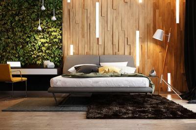 5 Desain Dinding Kayu untuk Kamar Tidur, Nomor 2 Nuansa Cerah
