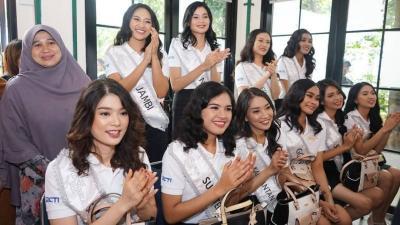 Karantina Miss Indonesia Hari Ke-5, 34 Finalis Main ke Panti Asuhan Anak Berkebutuhan Khusus
