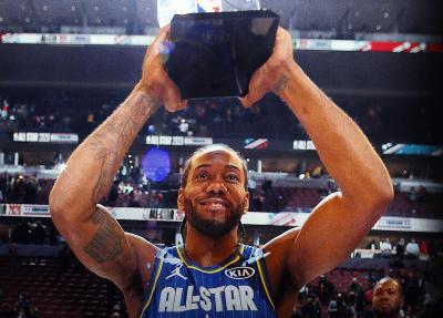 Kawhi Leonard Sabet Kobe Bryant MVP Award di NBA All-Star 2020
