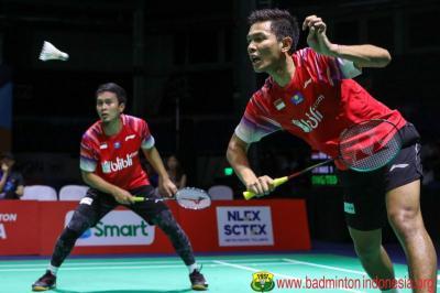Fajar Gugup Berpasangan dengan Ahsan di Final Kejuaraan Beregu Asia 2020