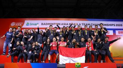 5 Fakta Juara Indonesia di Badminton Asia Team Championship 2020