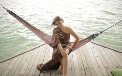 Liburan Manja Marshanda di Pulo Cinta Gorontalo
