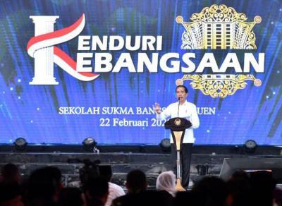 Hadiri Kenduri Kebangsaan, Presiden Jokowi: Mari Bersama Hadapi Tantangan Bangsa