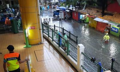 Penampakan 5 Stasiun di Jakarta yang Kebanjiran