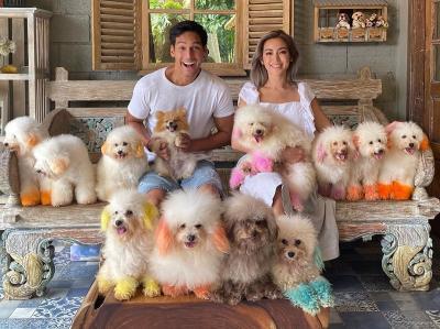 Jessica Iskandar dan Richard Kyle Liburan Bersama Anjing-Anjing Lucu, Gemas!
