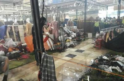 Pasca-Terbakar, Kios di Thamrin City Masih Dipasang Garis Polisi