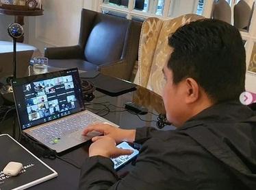 Erick Thohir Telekoferensi Video Bareng Yao Ming dan Dirk Nowitzki