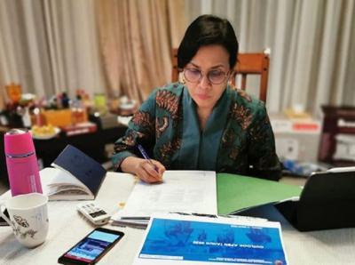 Via Online, Sri Mulyani Serahkan Laporan Keuangan Pemerintah Pusat 2019 ke BPK