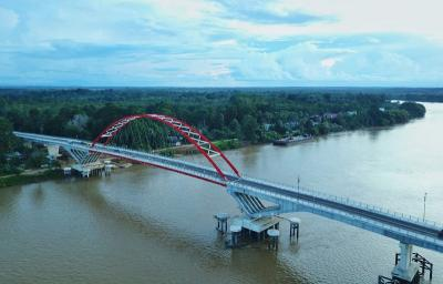 Pembangunan Jembatan Tumbang Samba di Kalimantan Tengah Sudah 99%