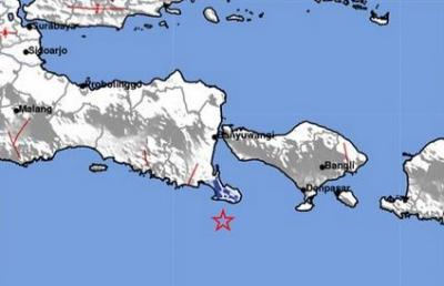 Gempa M3,9 Guncang Jembrana, Berpusat di Laut