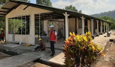 Bangunan Utama untuk Fasilitas Karantina Covid-19 di Batam Sudah 95%