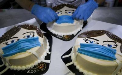 Pria Gaza Ciptakan Kue Corona, Ini Penampakannya